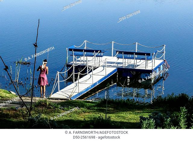 WINDHOEK, NAMIBIA Goreangab water reservoir supplied by reclaimed water, a popular recreational destination