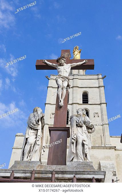 Symbols of the Catholic Church abound in Avignon, what was once the home of the Papacy
