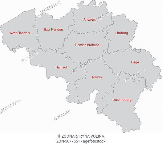 Gray Belgium map