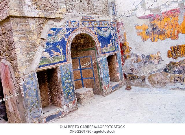 Ruins of Herculaneum, Ancient Roman Ruins, UNESCO Worl Heritage Site, Ercolano, Campania, Italy, Europe