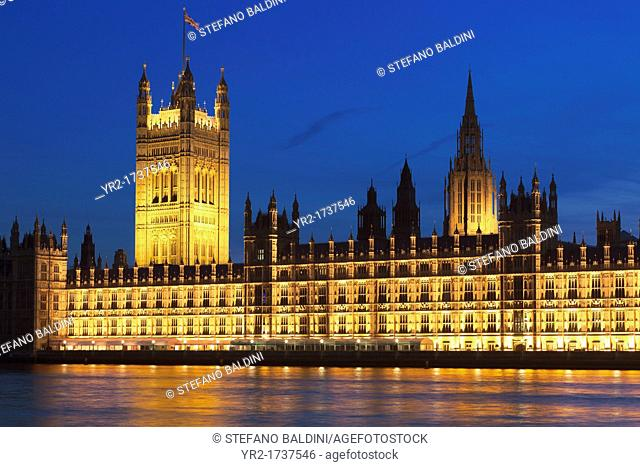 The house of parliament at night, London, UK