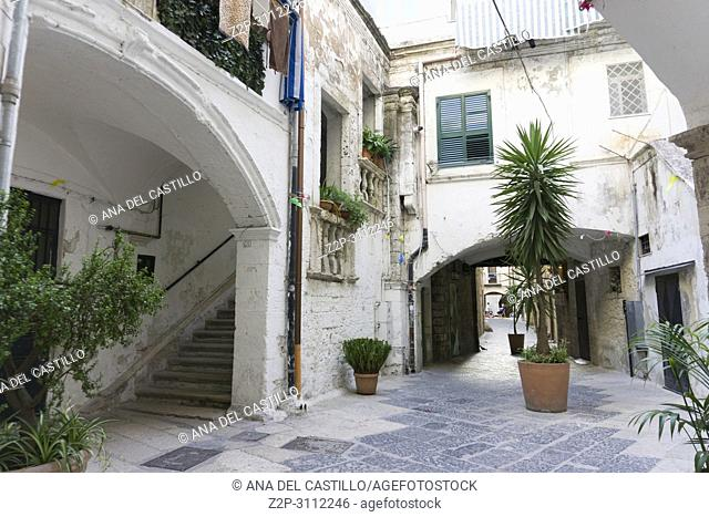 Old town of Bari on July 14, 2018 in Puglia Italy