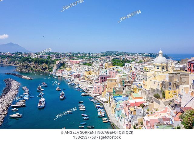 "Procida, Fisherman's Village """"La Corricella"""", Bay of Naples, Italy"