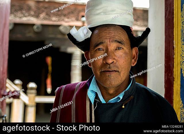 Hemis Gompa monastery, Ladahk man, portrait