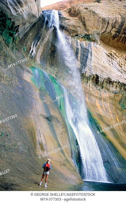 Calf Creek falls, Escalante river canyons. Utah, USA