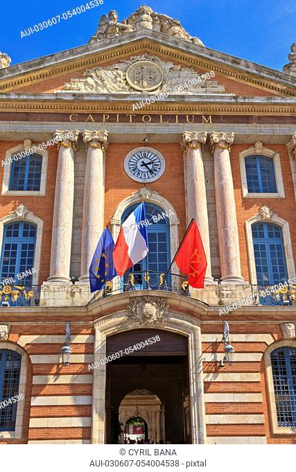 France, Toulouse, City Hall, [center view], Close-up, Le Capitole