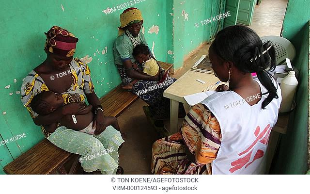 patients in hospital in batangafo, Central African Republic