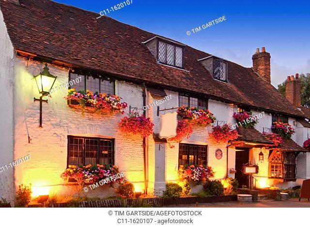 old pub, Westerham, Kent, England, UK