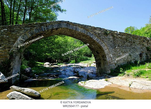 Old roman bridge in the Rhodopes, Bulgaria