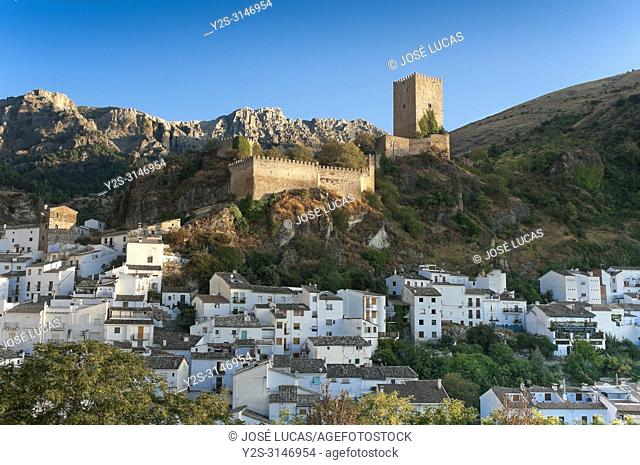 Panoramic view with the Yedra Castle (11th century). Cazorla. Jaen province. Region of Andalusia. Spain. Europe