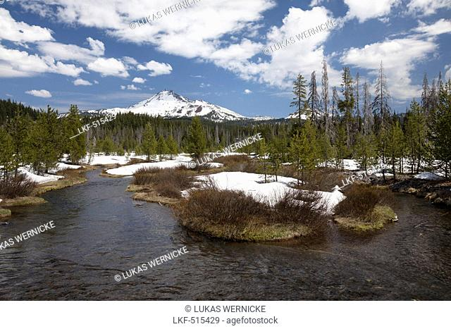 Deschutes National Forest, Mount South Sister, Mount Broken Top, Three Sisters Wilderness, Cascade Lakes National Scenic Byway