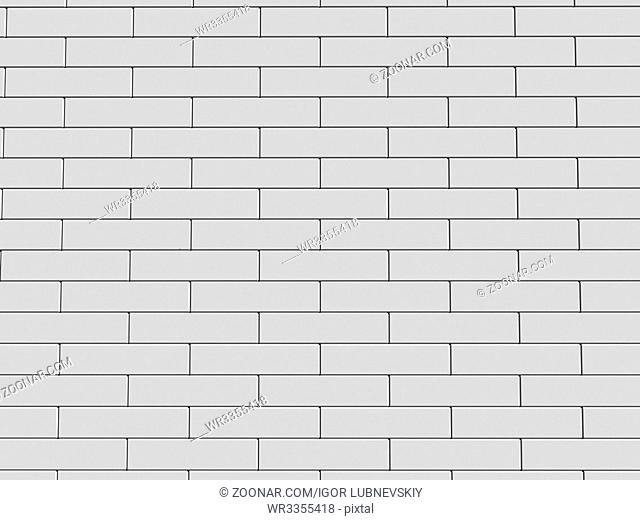 3d illustration of a white brick wall