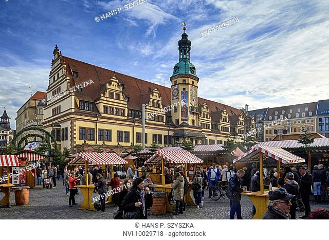 Square Old Town Hall Leipzig Stock Photos And Images Agefotostock