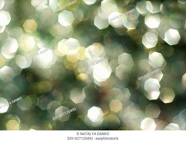 green and white bokeh lights defocused, abstract background