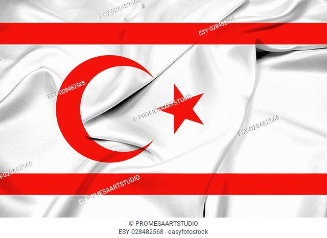 Waving Flag of Northern Cyprus