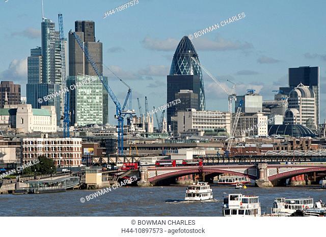 europe, UK, England, London, City skyline with Heron Tower