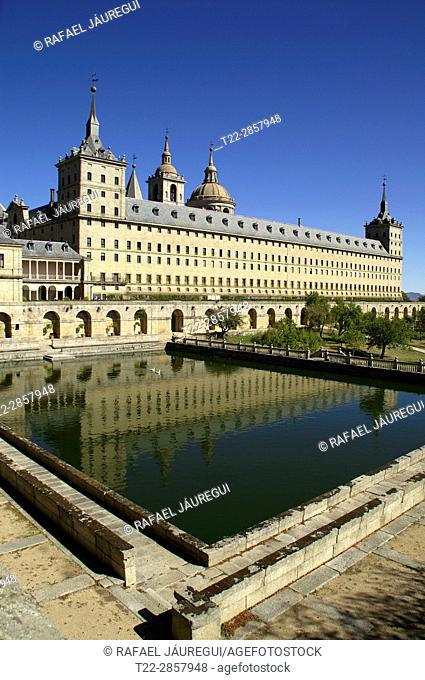 San Lorenzo del Escorial (Madrid) Spain. Monastery of San Lorenzo del Escorial