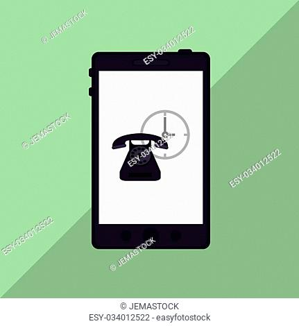 Smartphone concept with icon design, vector illustration 10 eps graphic