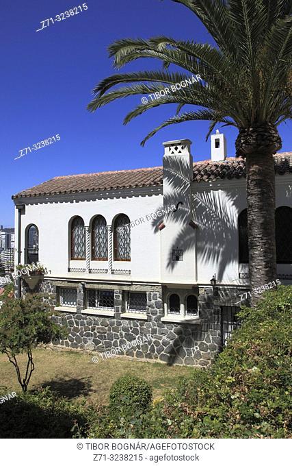 Chile, Vina del Mar, house, garden, traditional architecture,