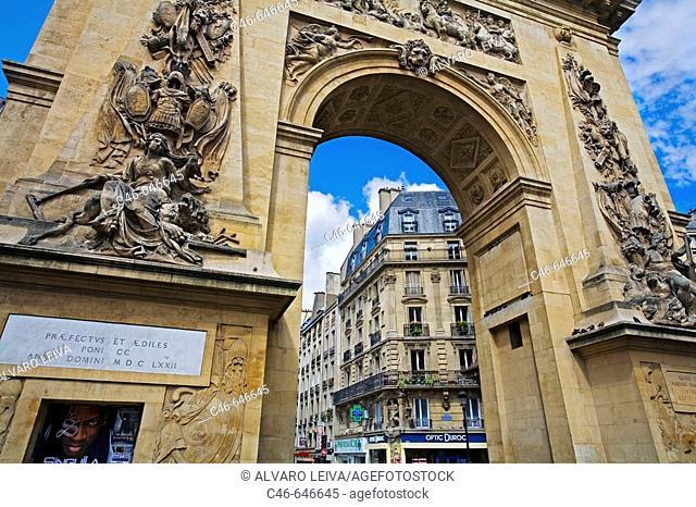 Arc de Triomphe de la Saint Denis, Paris. France