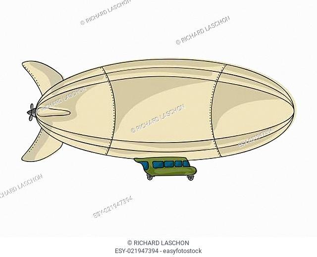 Cartoon zeppelin