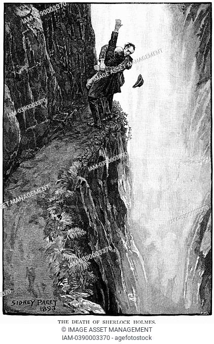 Arthur Conan Doyle 'The Adventure of the Final Problem' Strand Magazine, London, 1893  Illustrated by Sidney E  Paget 1860-1908
