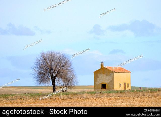 Country house. Lagunas de Villafáfila Natural Reserve. Zamora province. Tierra de Campos. Castilla y León. Spain