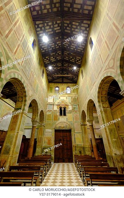 Abbey of Santa Maria in Sylvis, Sesto al Reghena, Pordenone, Friuli Venezia Giulia, Italy, Europe