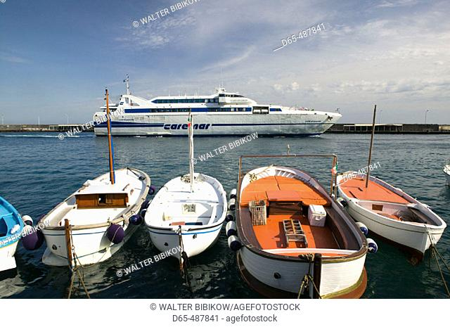 Marina di Caterola. Capri Town Port. Capri. Bay of Naples. Campania. Italy
