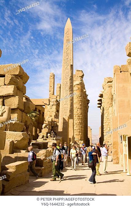 The Temple of Karnak in Luxor Egypt