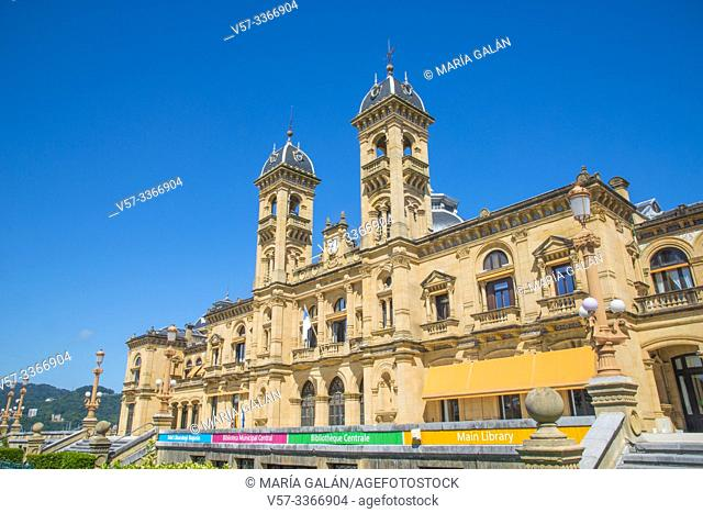 Facade of city hall. San Sebastian, Spain