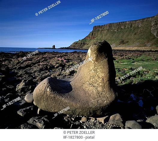 Giant's Boot, Giant's Causeway, Co Antrim, Ireland