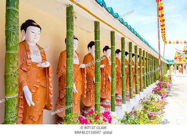 Statues at Kek Lok Si temple, George Town, Penang, Malaysia