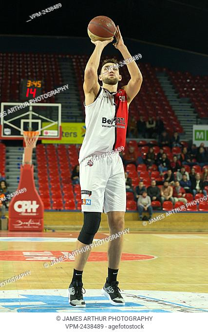 Charleroi's Yoeri Schoepen pictured during the basketball match between Spirou Charleroi and Leuven Bears, Wednesday 04 December 2019 in Charleroi