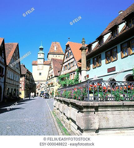 Rothenburg ob der Tauber. Germany