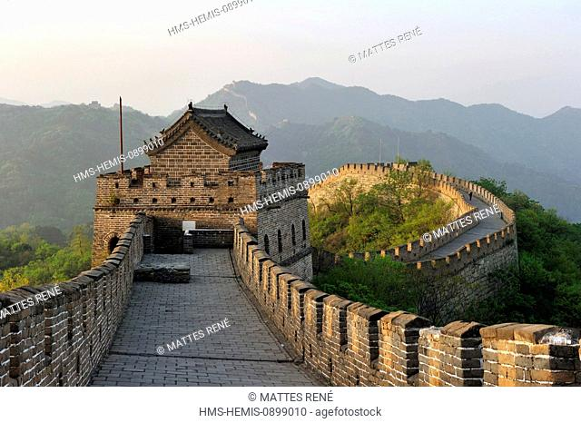 China, near Beijing, Great Wall of China listed as World Heritage by UNESCO, Mutianyu section