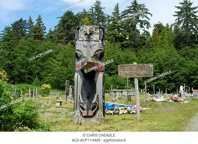 Cemetary, Old Massett, Haida Gwaii, formerly known as Queen Charlotte Islands, British Columbia, Canada
