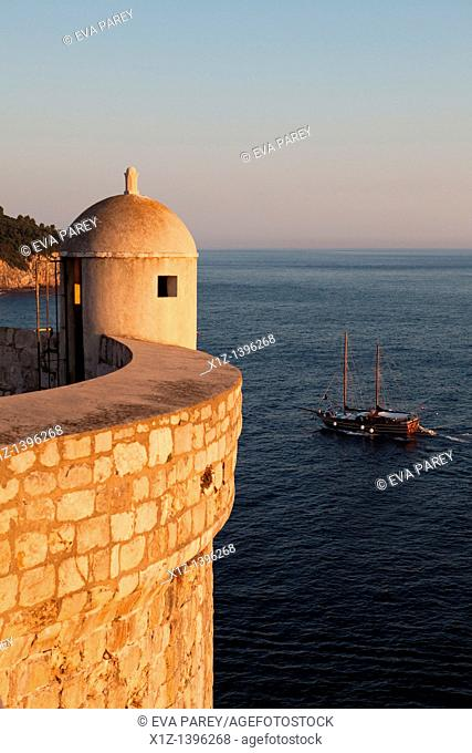 A tower of the Old Town of Dubrovnik Croatia
