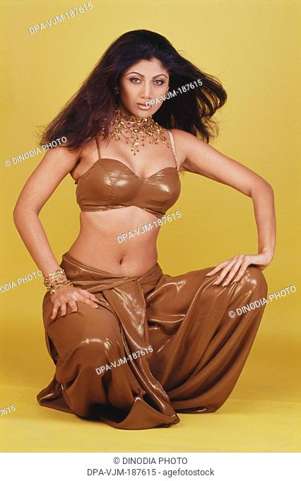 2000, Portrait Of Indian film actress Shamita Shetty