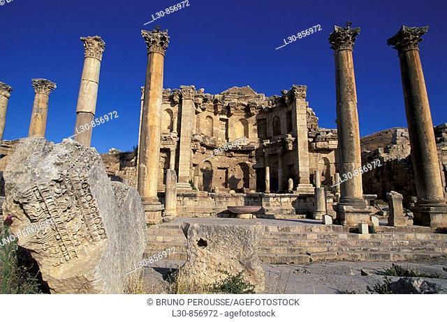 Nymphaeum, archaeological site of Jerash, Jordan