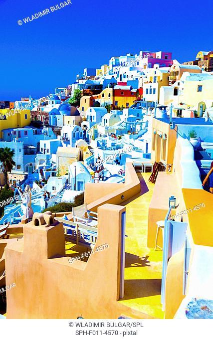 Traditional houses, Santorini, Greece