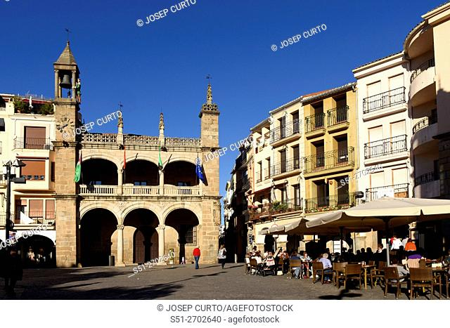 Main square of Plasencia, Caceres province, Extremadura, Spain