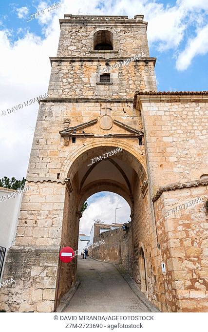 Iglesia de la Santísima Trinidad Church, Alarcón, Cuenca province, Castile la Mancha, Spain. Historic and Artistic Heritage
