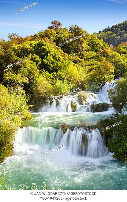 Croatia - Krka National Park, waterfall on the Krka River, Croatia