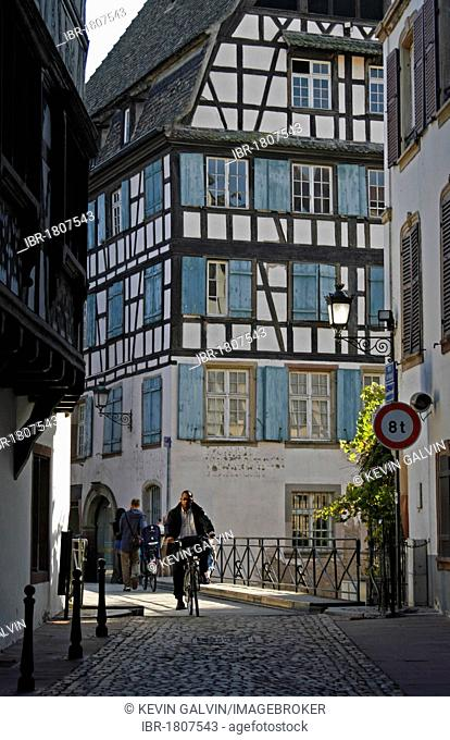Half-timbered buildings, La Petite France, Strasbourg, Alsace, France, Europe