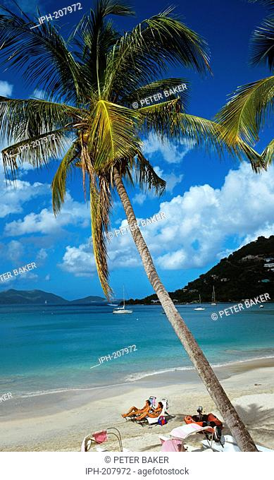 Beach scene at Cane Garden Bay on the island of Tortola