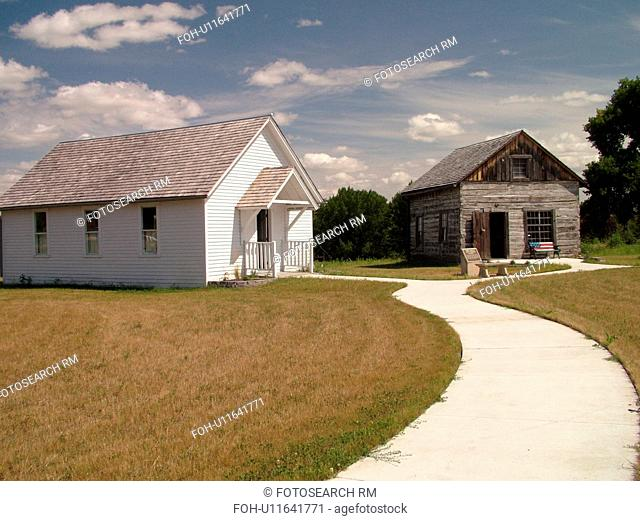 Grand Forks, ND, North Dakota, Myra Museum and Campbell House, One Room Schoolhouse, Log Post Office and Country Store