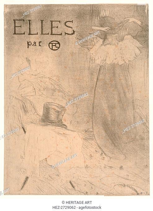 Folder for Frontispiece of Elles, 1896. Creator: Henri de Toulouse-Lautrec (French, 1864-1901)