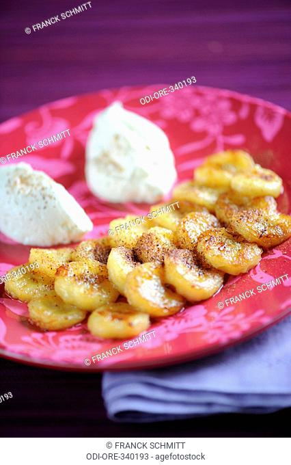 Flamnbeed banana with spices