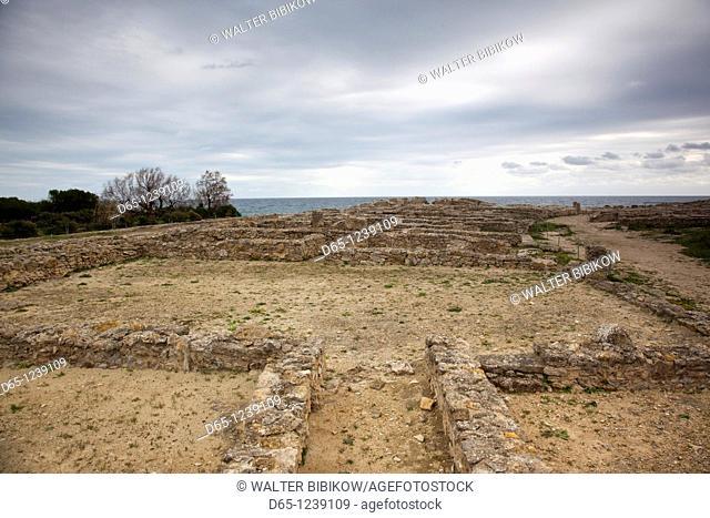 Tunisia, Cap Bon, Kerkouane, ruins of ancient Punic settlement